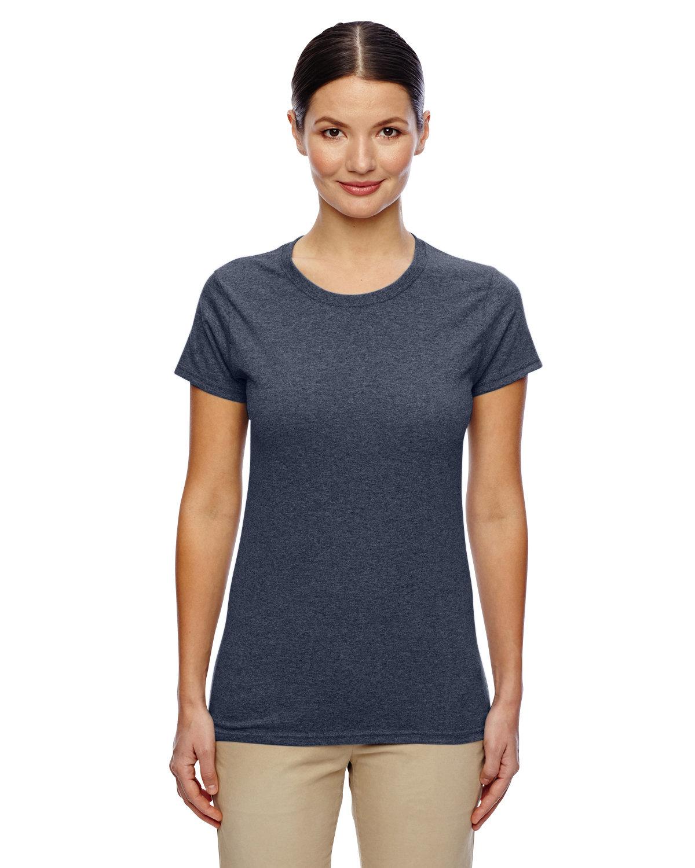 Gildan Ladies' Heavy Cotton™ T-Shirt HEATHER NAVY