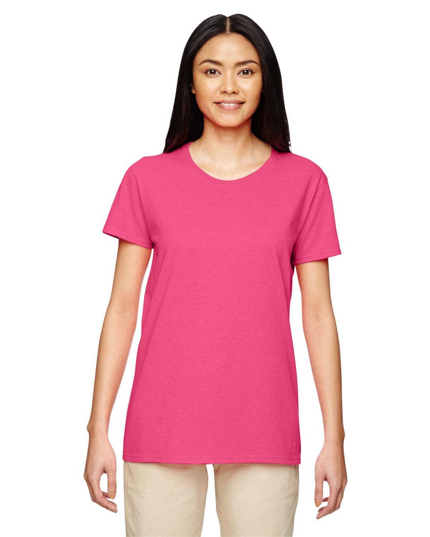 Gildan Ladies' Heavy Cotton™ T-Shirt SAFETY PINK