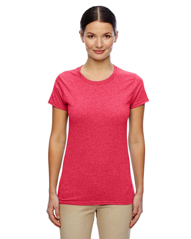 Gildan Ladies' Heavy Cotton™ T-Shirt HEATHER RED