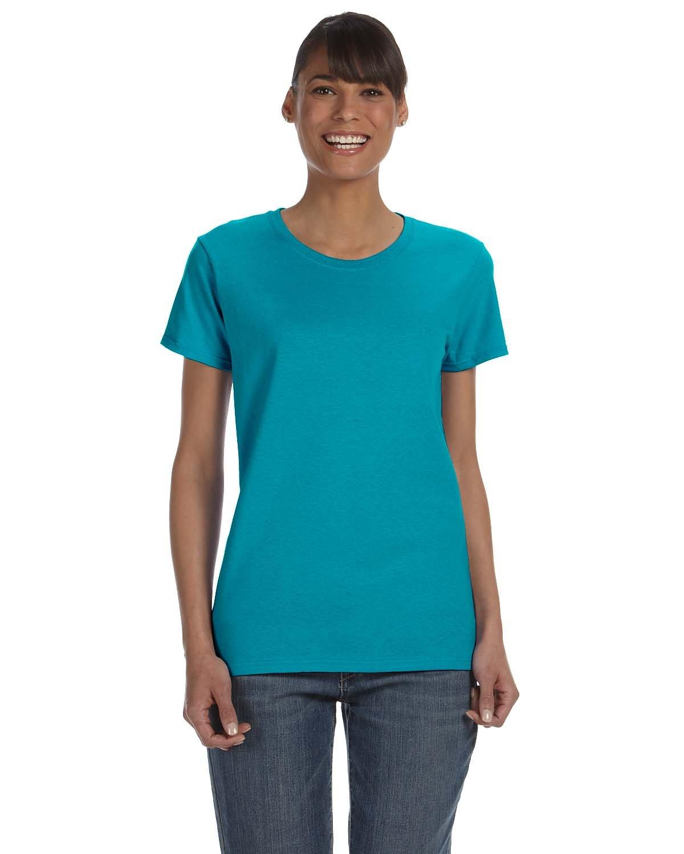 Gildan Ladies' Heavy Cotton™ T-Shirt TROPICAL BLUE