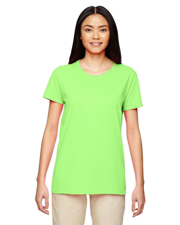 Gildan Ladies' Heavy Cotton™ T-Shirt NEON GREEN
