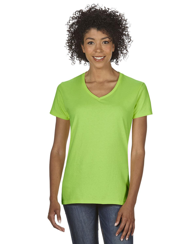 Gildan Ladies' Heavy Cotton™ V-Neck T-Shirt LIME