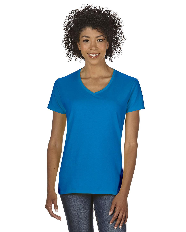 Gildan Ladies' Heavy Cotton™ V-Neck T-Shirt SAPPHIRE