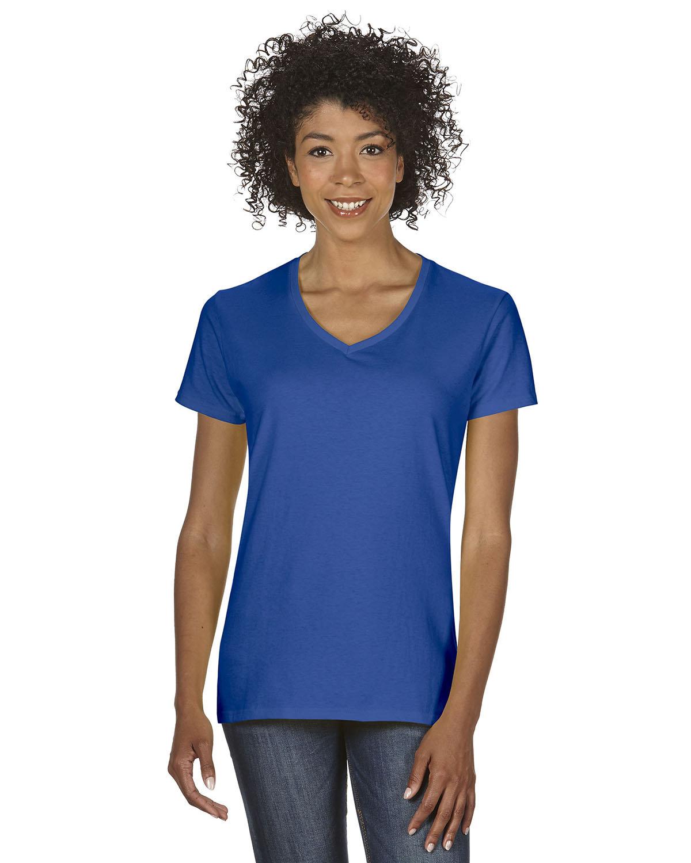 Gildan Ladies' Heavy Cotton™ V-Neck T-Shirt ROYAL