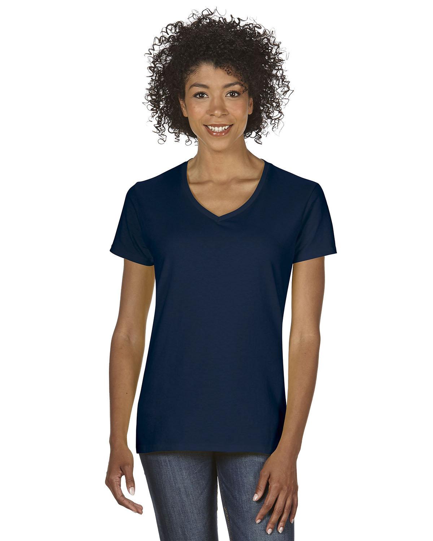 Gildan Ladies' Heavy Cotton™ V-Neck T-Shirt NAVY