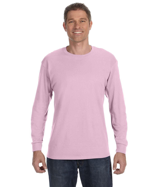 Gildan Adult Heavy Cotton™ Long-Sleeve T-Shirt LIGHT PINK