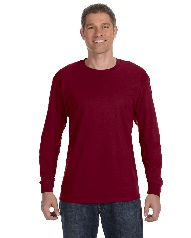 Gildan Adult Heavy Cotton™ Long-Sleeve T-Shirt GARNET