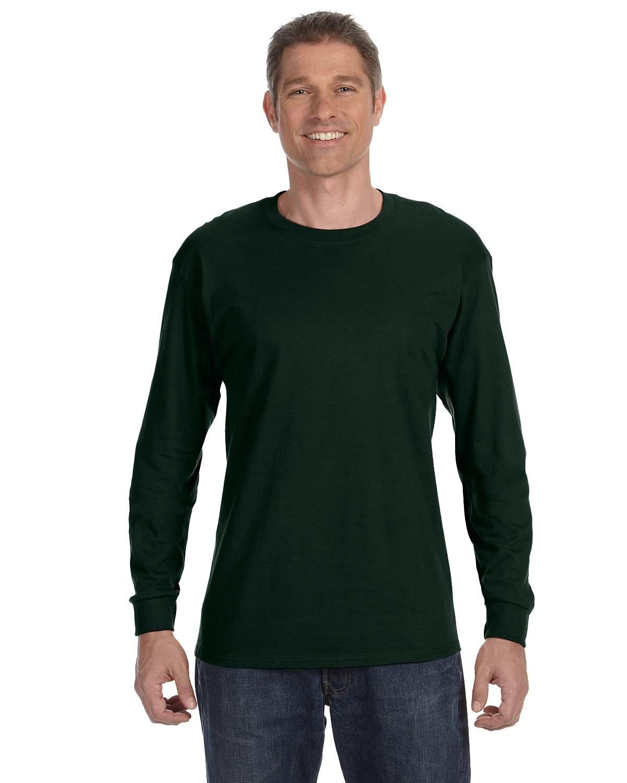 Gildan Adult Heavy Cotton™ Long-Sleeve T-Shirt FOREST GREEN