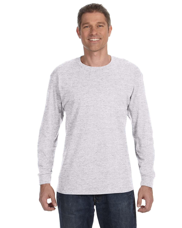 Gildan Adult Heavy Cotton™ Long-Sleeve T-Shirt ASH GREY