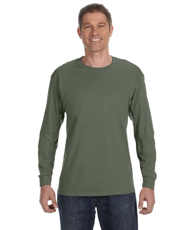 Gildan Adult Heavy Cotton™ Long-Sleeve T-Shirt MILITARY GREEN
