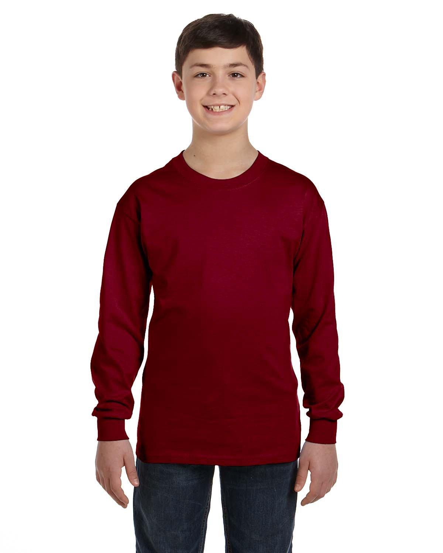 Gildan Youth Heavy Cotton™ Long-Sleeve T-Shirt GARNET