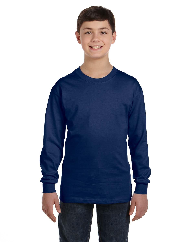 Gildan Youth Heavy Cotton™ Long-Sleeve T-Shirt NAVY