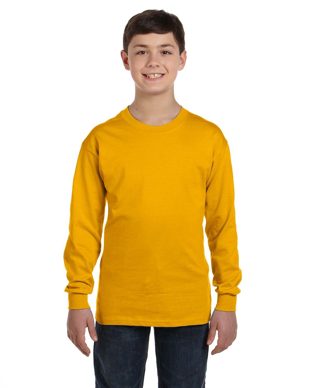 Gildan Youth Heavy Cotton™ Long-Sleeve T-Shirt GOLD