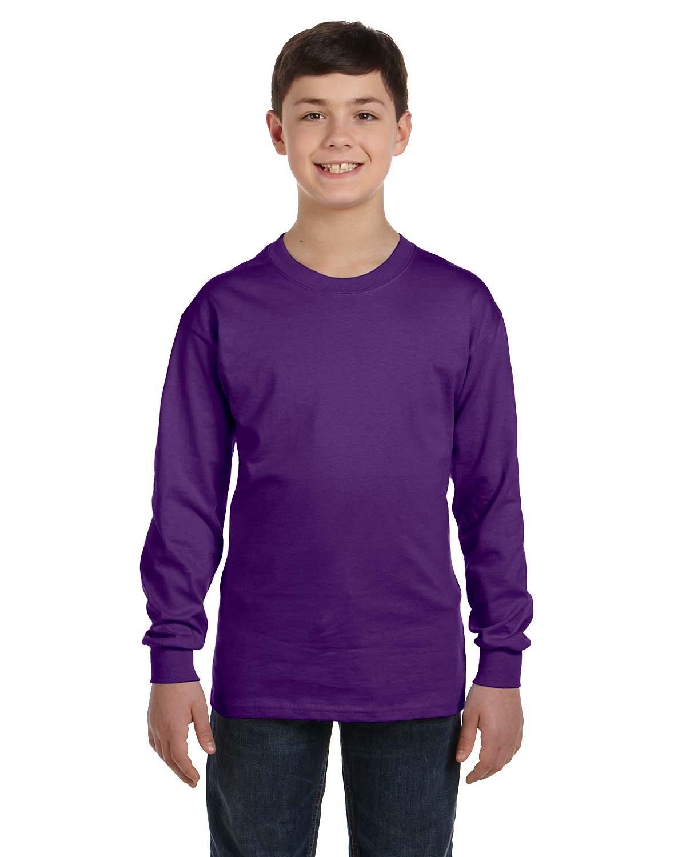Gildan Youth Heavy Cotton™ Long-Sleeve T-Shirt PURPLE