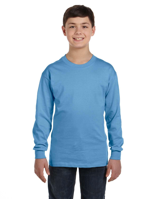 Gildan Youth Heavy Cotton™ Long-Sleeve T-Shirt CAROLINA BLUE