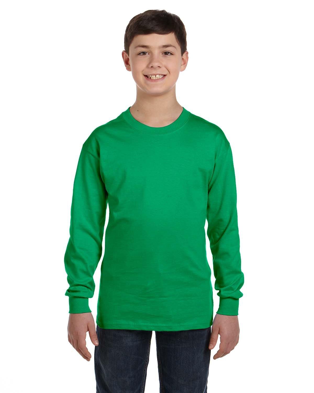 Gildan Youth Heavy Cotton™ Long-Sleeve T-Shirt IRISH GREEN