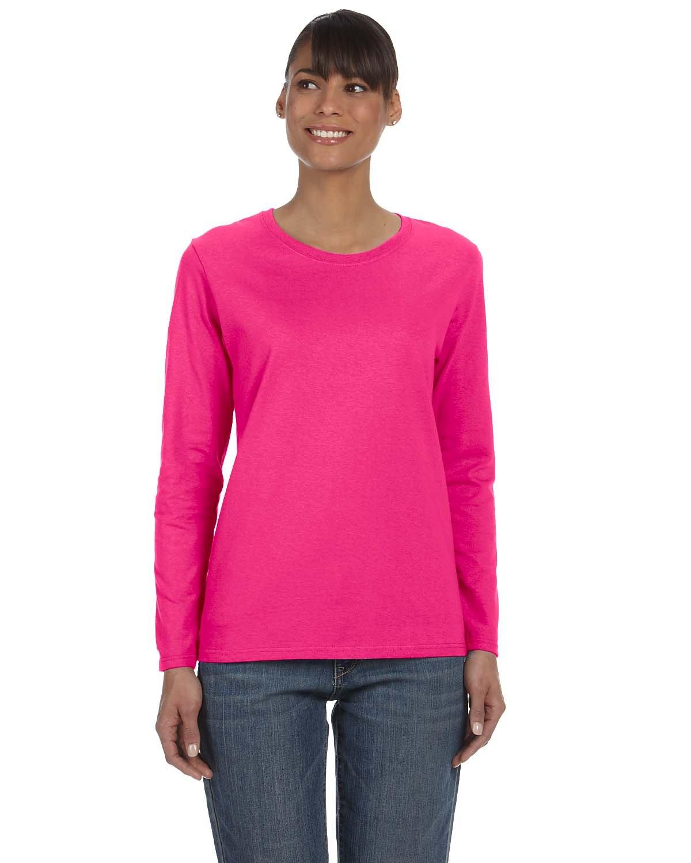 Gildan Ladies' Heavy Cotton™ Long-Sleeve T-Shirt HELICONIA
