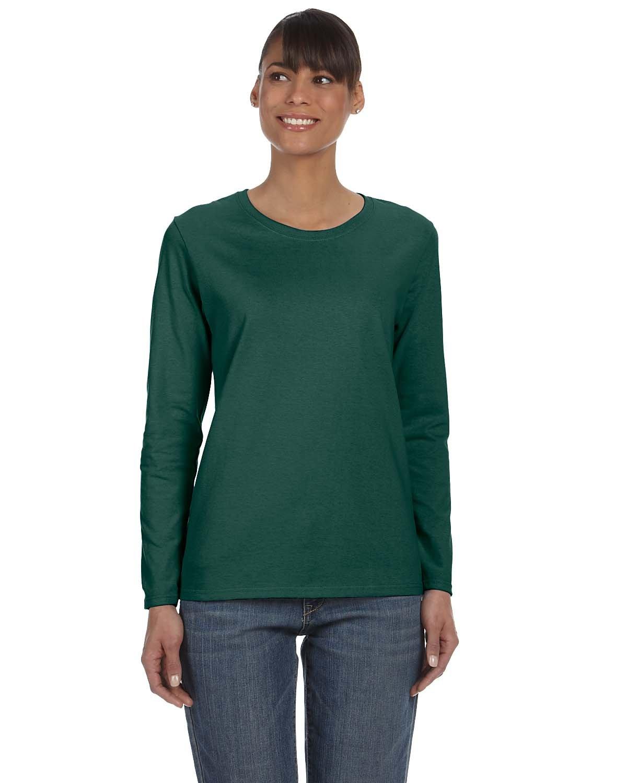 Gildan Ladies' Heavy Cotton™ Long-Sleeve T-Shirt FOREST GREEN