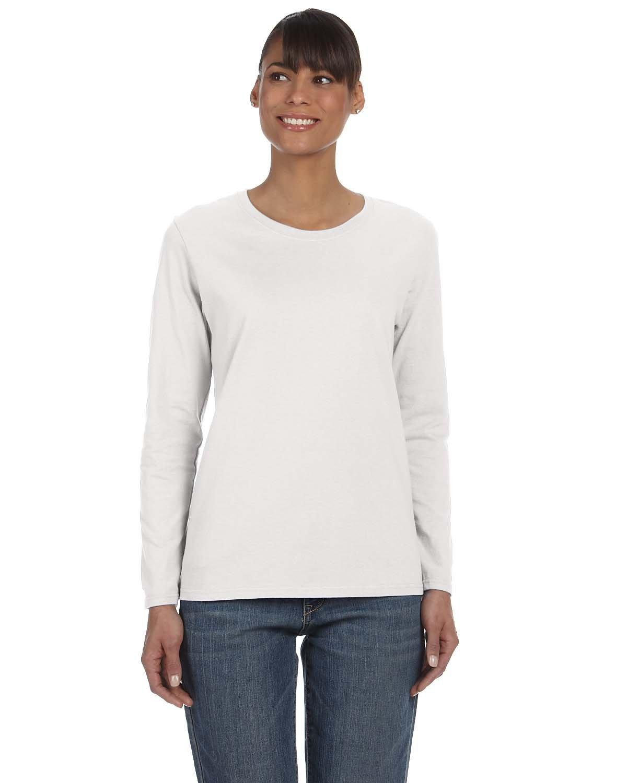 Gildan Ladies' Heavy Cotton™ Long-Sleeve T-Shirt ASH GREY