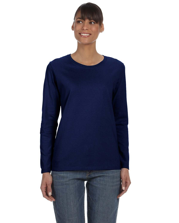 Gildan Ladies' Heavy Cotton™ Long-Sleeve T-Shirt NAVY