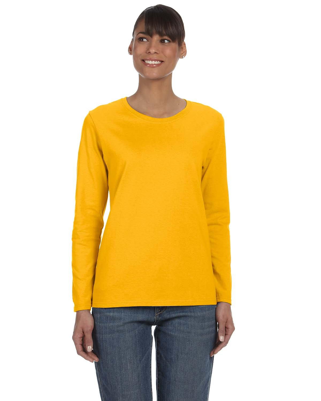 Gildan Ladies' Heavy Cotton™ Long-Sleeve T-Shirt GOLD
