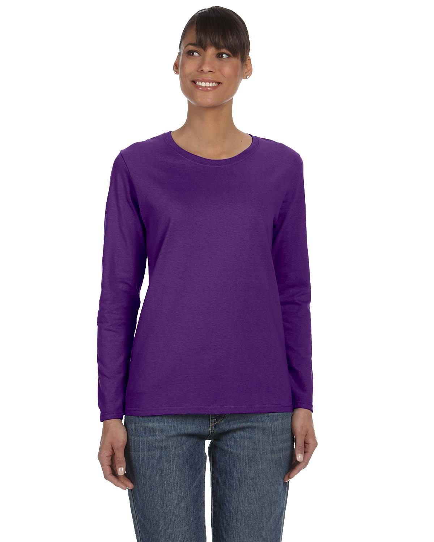 Gildan Ladies' Heavy Cotton™ Long-Sleeve T-Shirt PURPLE