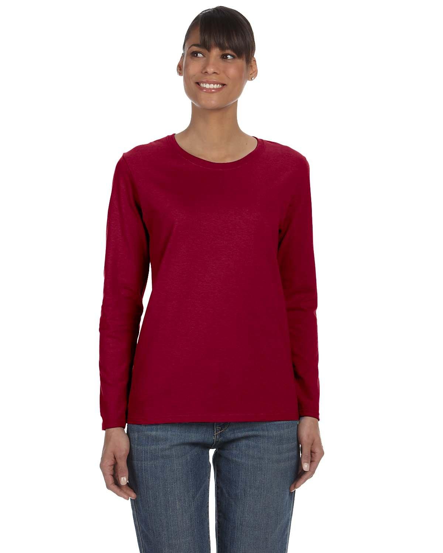 Gildan Ladies' Heavy Cotton™ Long-Sleeve T-Shirt CARDINAL RED