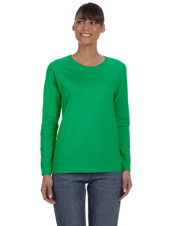 Gildan Ladies' Heavy Cotton™ Long-Sleeve T-Shirt IRISH GREEN