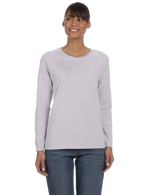 Gildan Ladies' Heavy Cotton™ Long-Sleeve T-Shirt SPORT GREY