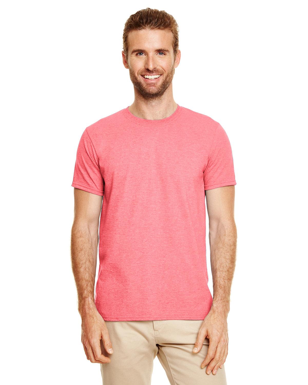 Gildan Adult Softstyle® T-Shirt HTHR CORAL SILK