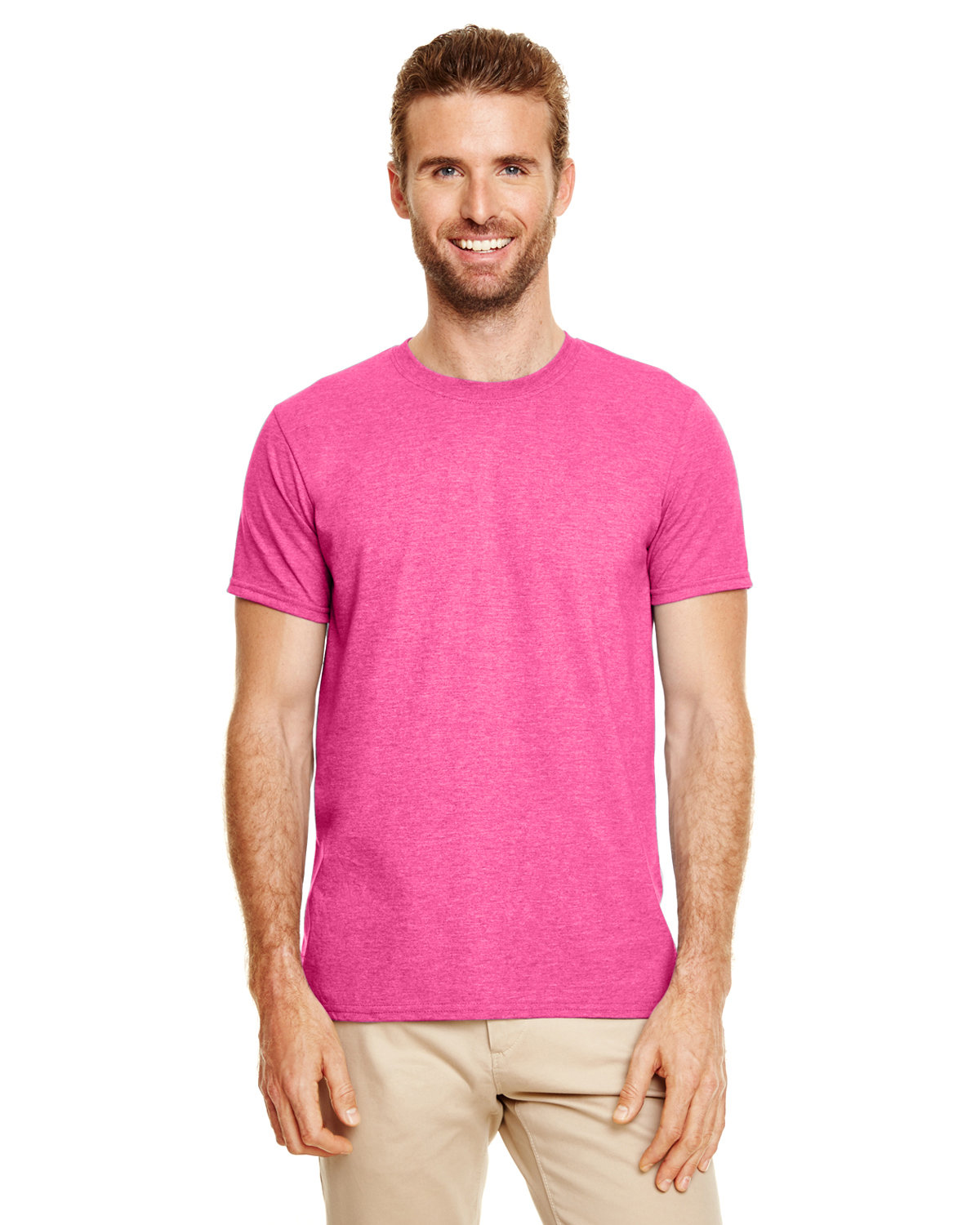 Gildan Adult Softstyle® T-Shirt HTHR HELICONIA