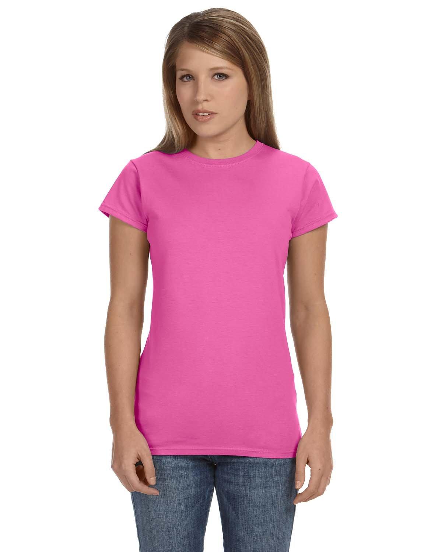 Gildan Ladies' Softstyle® 4.5 oz Fitted T-Shirt AZALEA