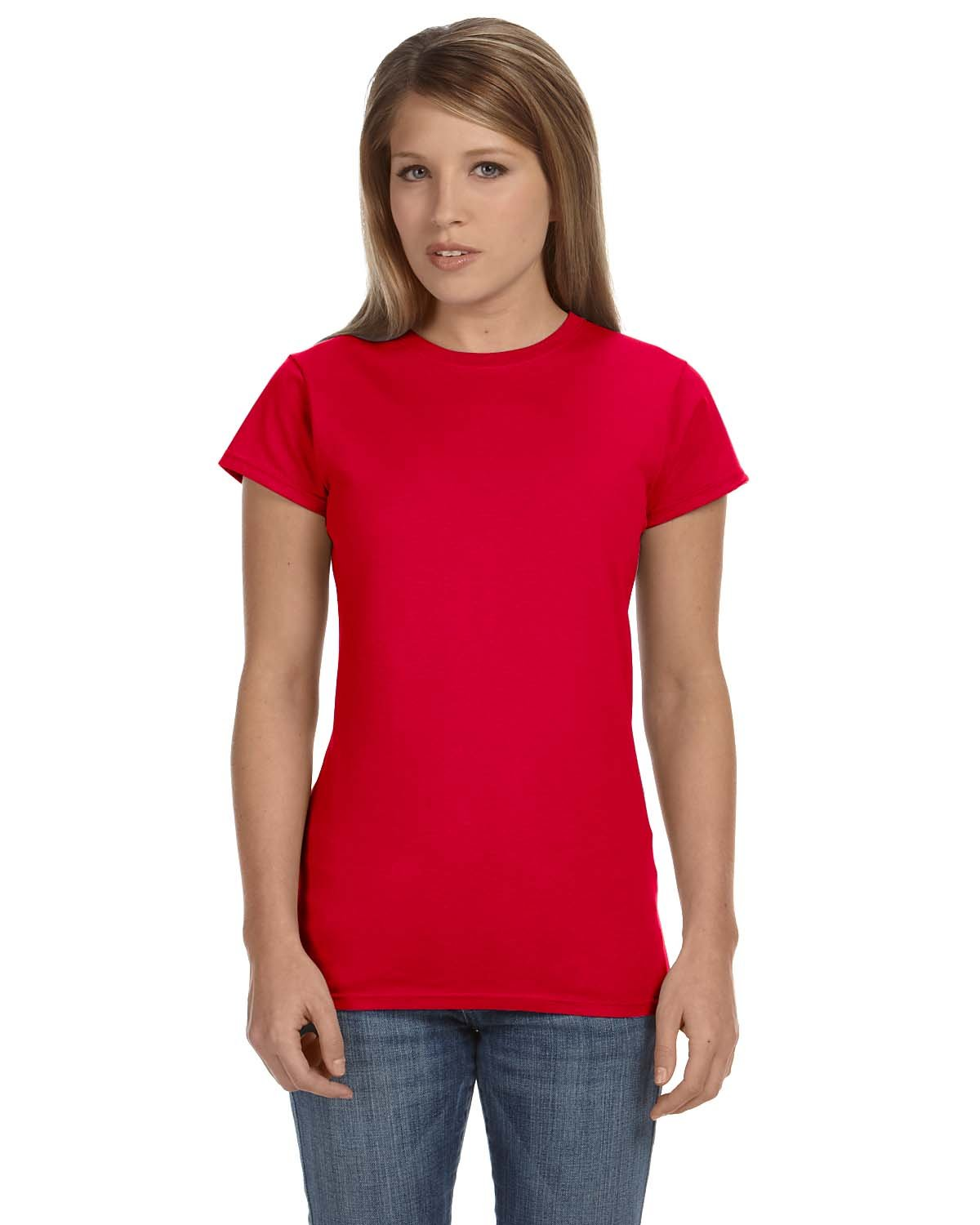 Gildan Ladies' Softstyle® 4.5 oz Fitted T-Shirt CHERRY RED
