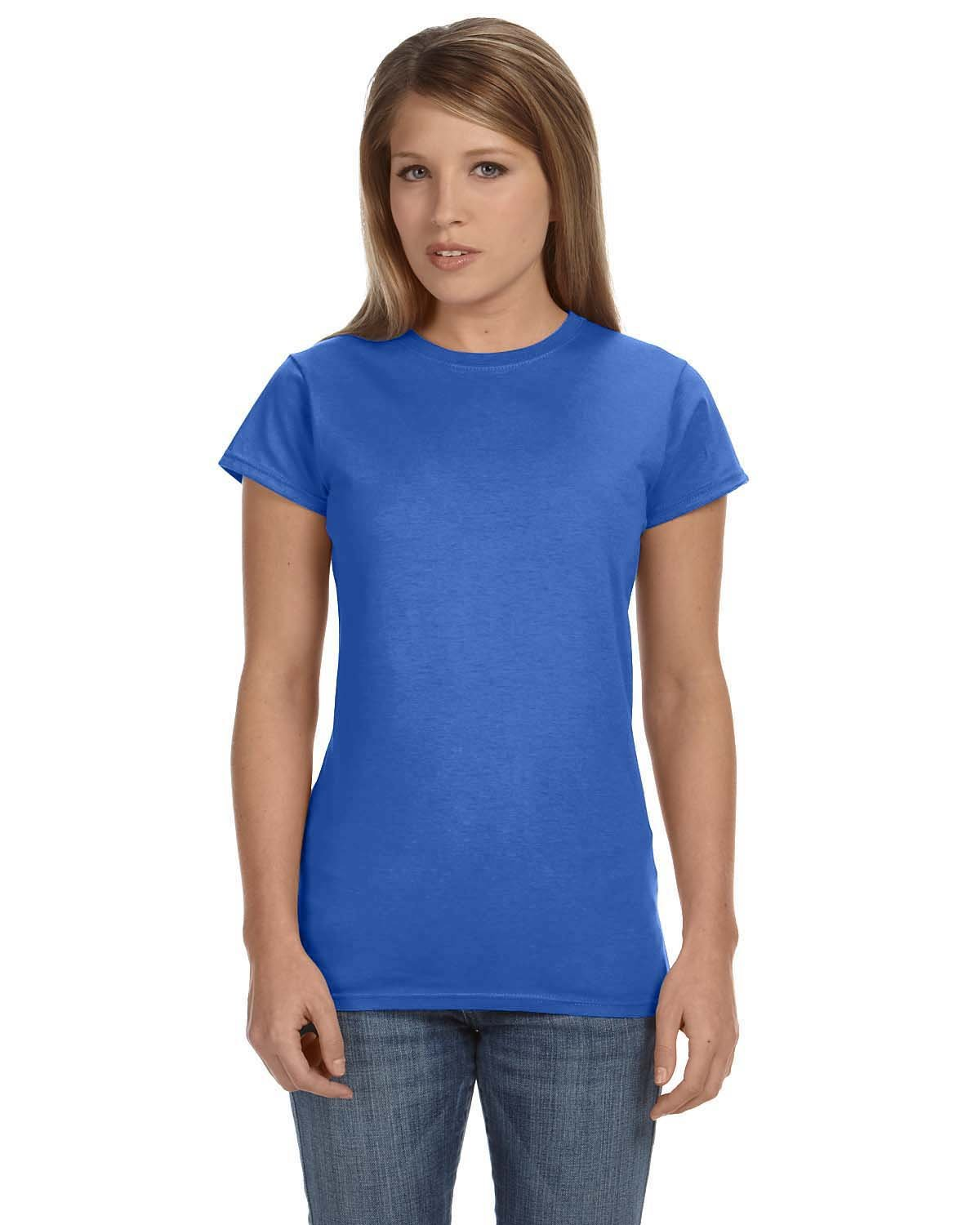 Gildan Ladies' Softstyle® 4.5 oz Fitted T-Shirt HEATHER ROYAL