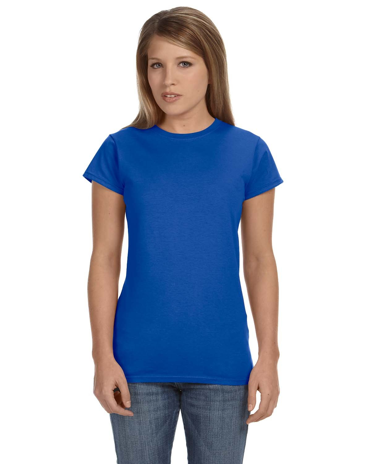 Gildan Ladies' Softstyle® 4.5 oz Fitted T-Shirt ROYAL