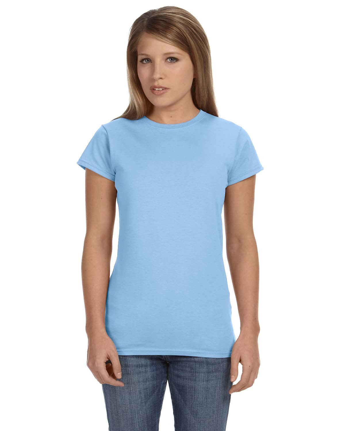 Gildan Ladies' Softstyle® 4.5 oz Fitted T-Shirt LIGHT BLUE