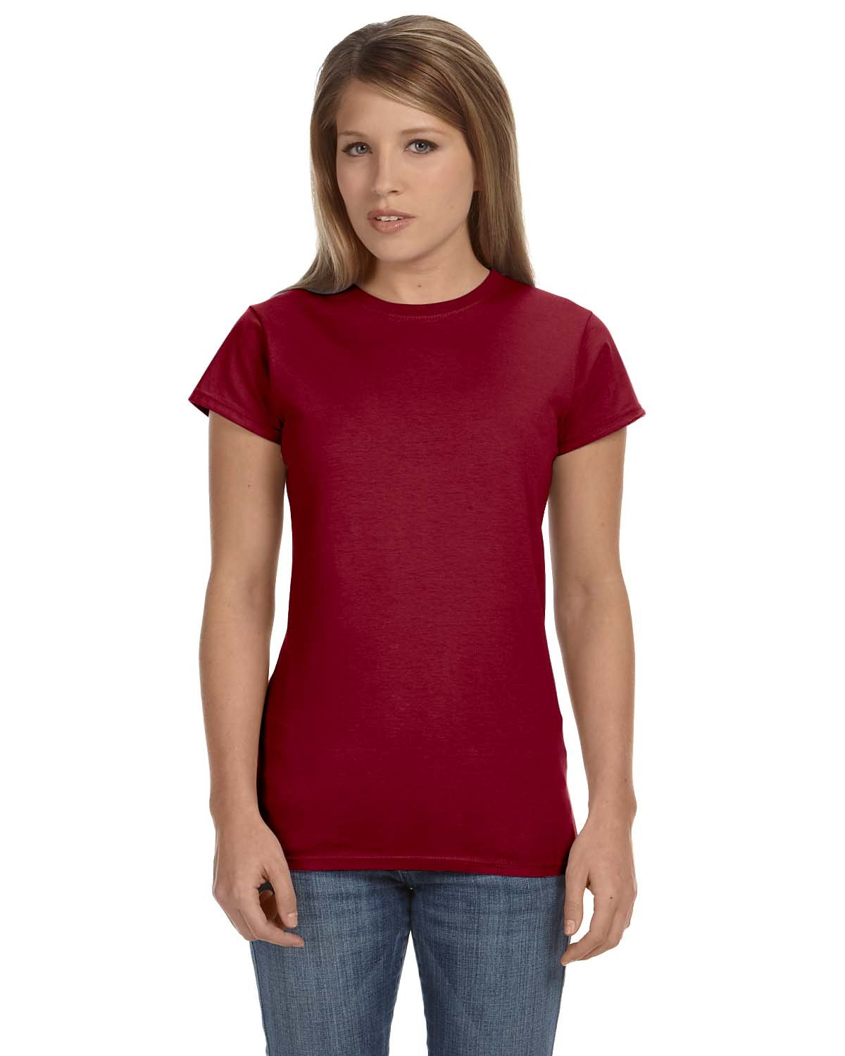 Gildan Ladies' Softstyle® 4.5 oz Fitted T-Shirt ANTIQ CHERRY RED