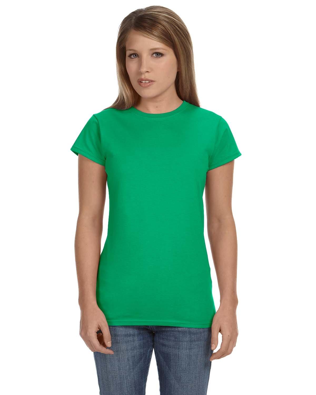 Gildan Ladies' Softstyle® 4.5 oz Fitted T-Shirt IRISH GREEN