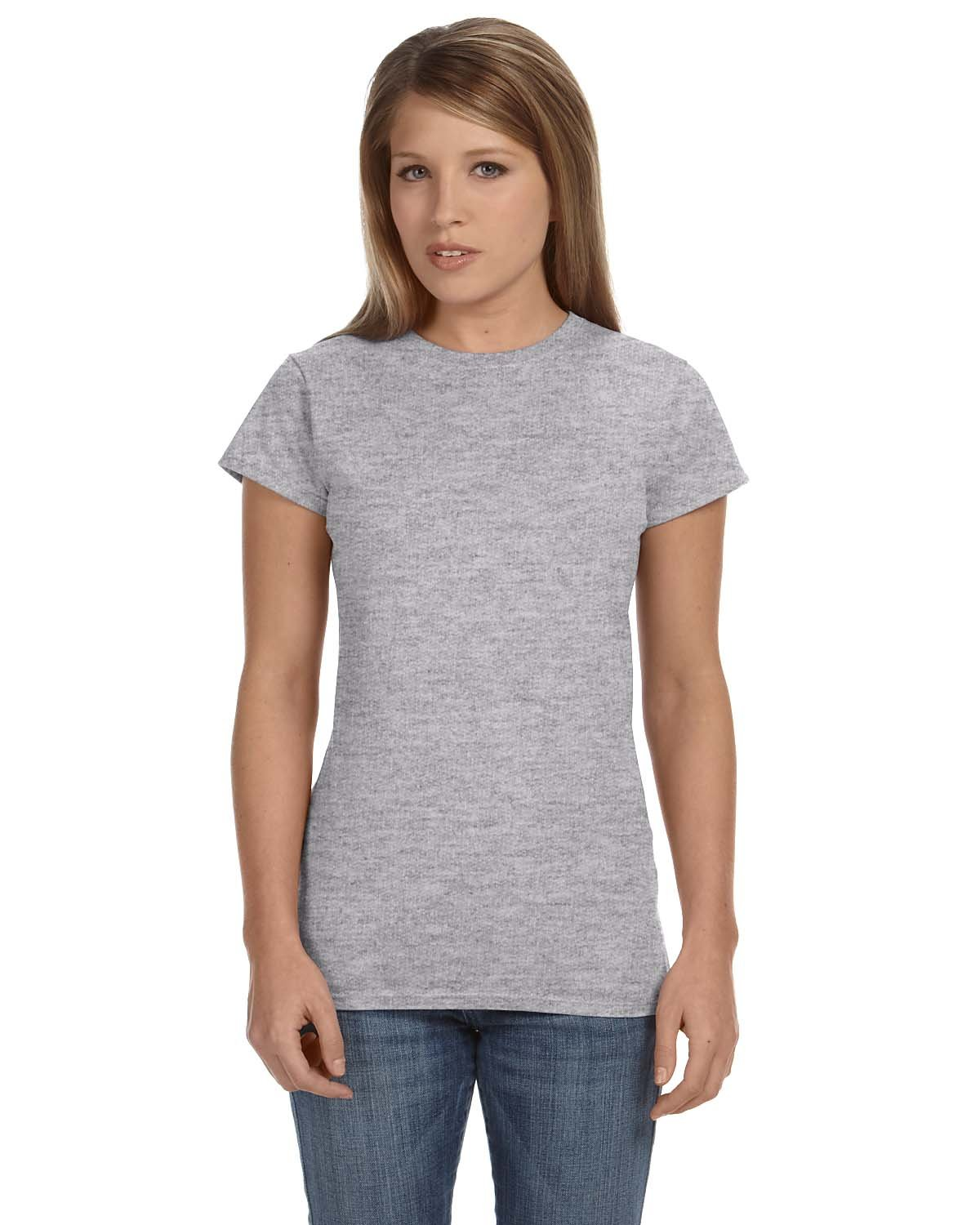 Gildan Ladies' Softstyle® 4.5 oz Fitted T-Shirt RS SPORT GREY