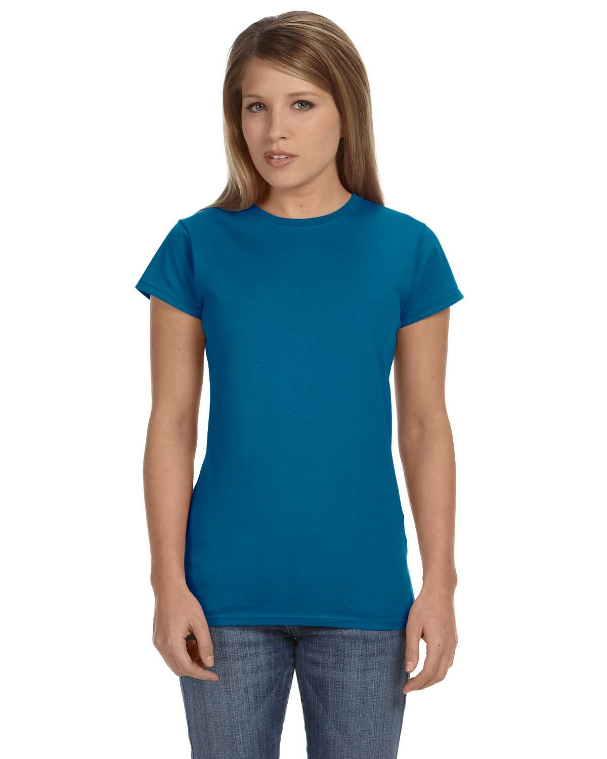 Gildan Ladies' Softstyle® 4.5 oz Fitted T-Shirt ANTQUE SAPPHIRE