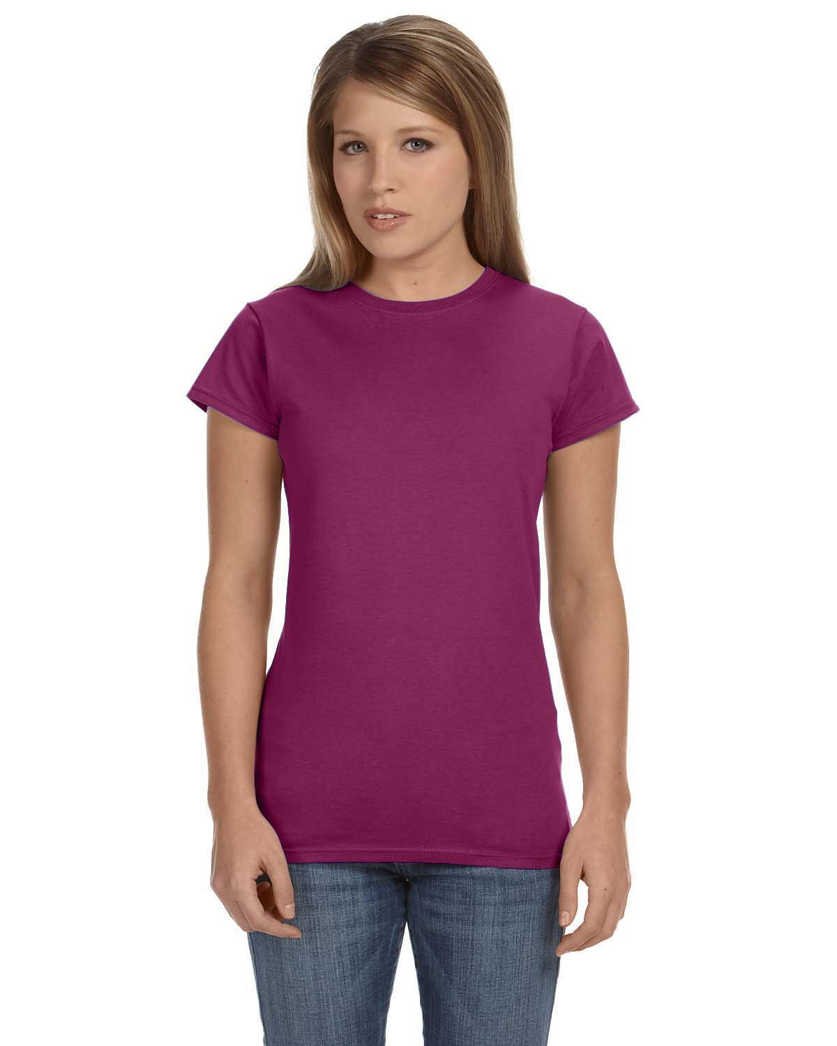 Gildan Ladies' Softstyle® 4.5 oz Fitted T-Shirt BERRY