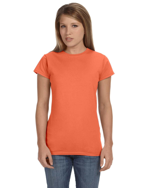 Gildan Ladies' Softstyle® 4.5 oz Fitted T-Shirt HEATHER ORANGE