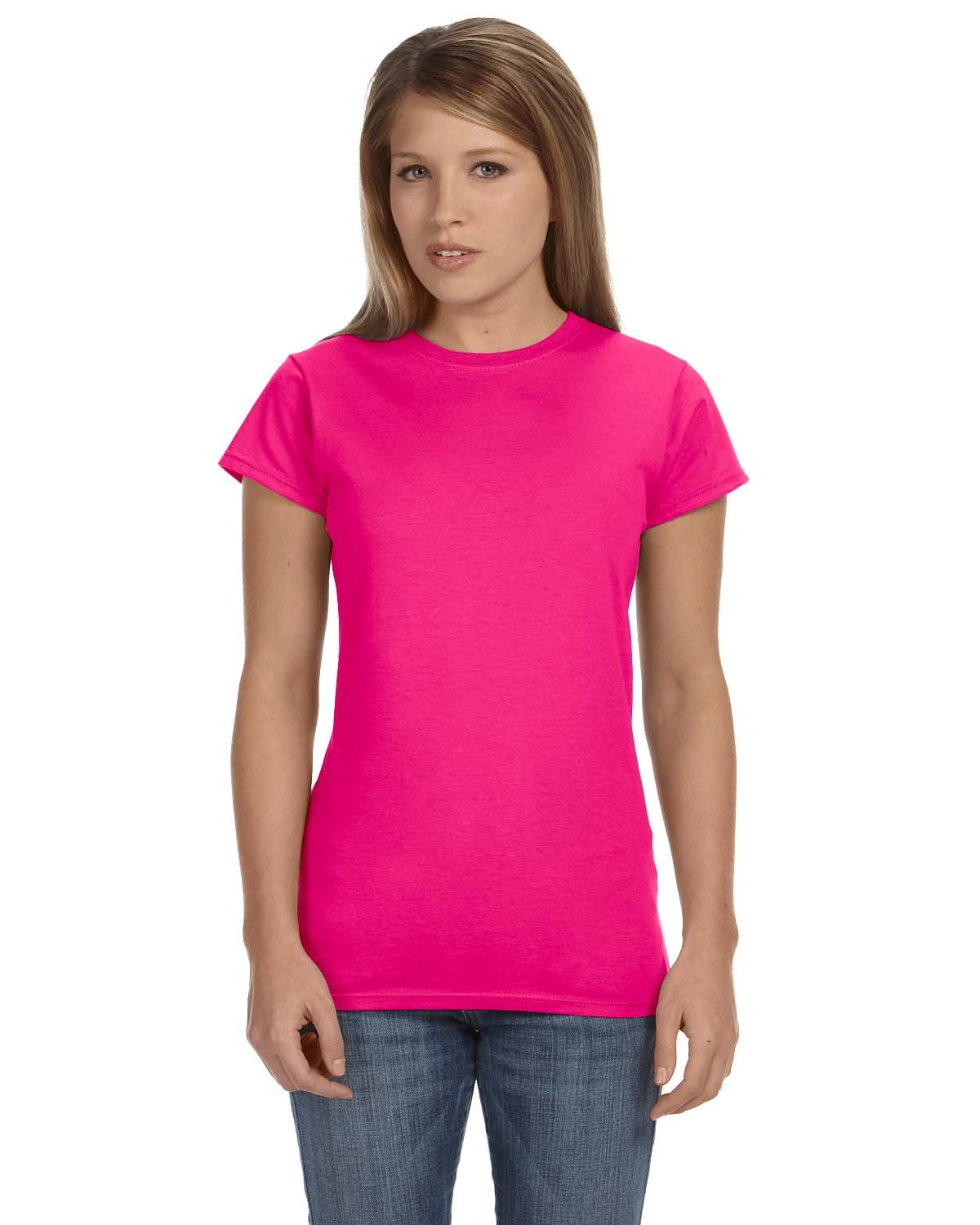 Gildan Ladies' Softstyle® 4.5 oz Fitted T-Shirt ANTQUE HELICONIA