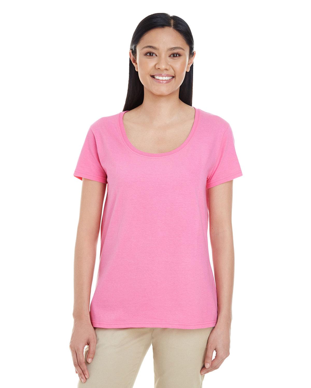 Gildan Ladies' Softstyle® Deep Scoop T-Shirt AZALEA