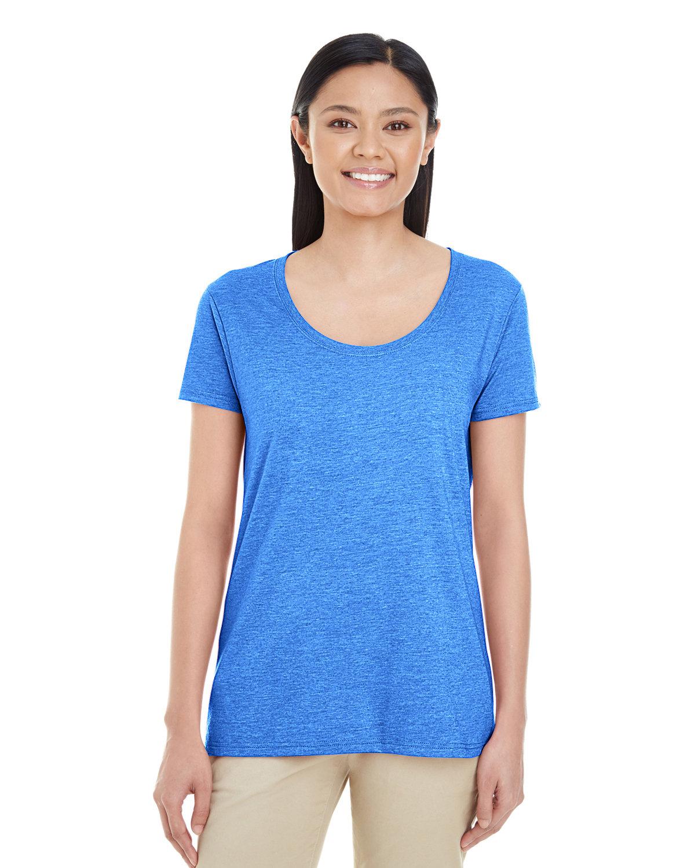 Gildan Ladies' Softstyle® Deep Scoop T-Shirt HEATHER ROYAL