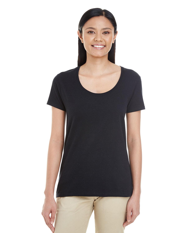 Gildan Ladies' Softstyle® Deep Scoop T-Shirt BLACK