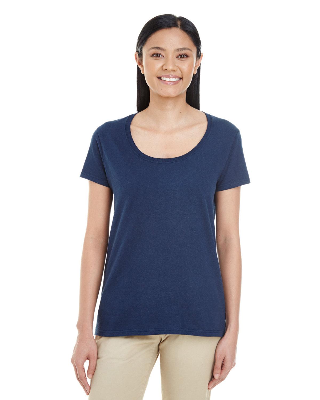 Gildan Ladies' Softstyle® Deep Scoop T-Shirt NAVY