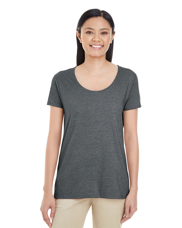 Gildan Ladies' Softstyle® Deep Scoop T-Shirt DARK HEATHER