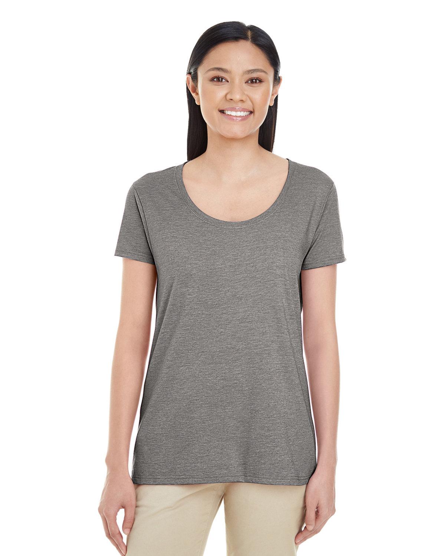 Gildan Ladies' Softstyle® Deep Scoop T-Shirt GRAPHITE HEATHER