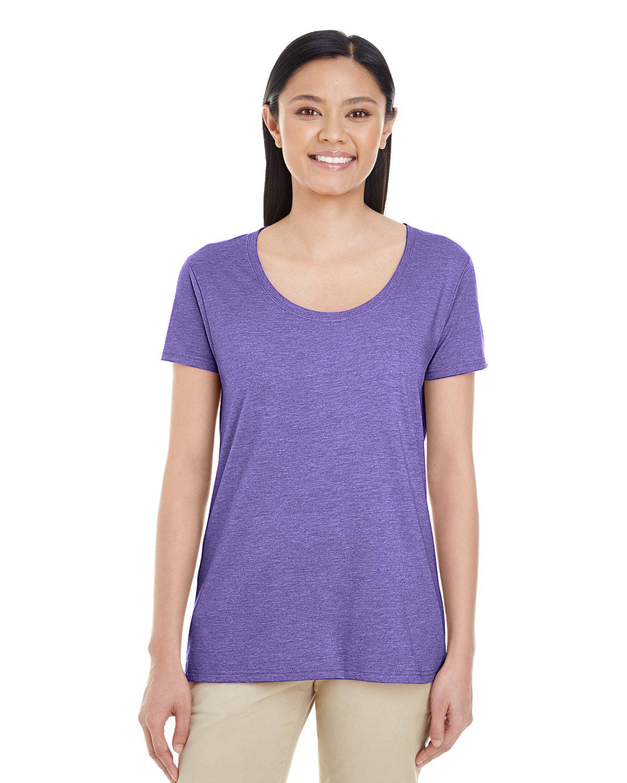 Gildan Ladies' Softstyle® Deep Scoop T-Shirt HEATHER PURPLE